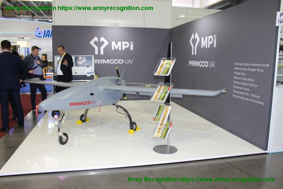 IDET 2019 Primoco UAV showcases its UAV model ONE 150