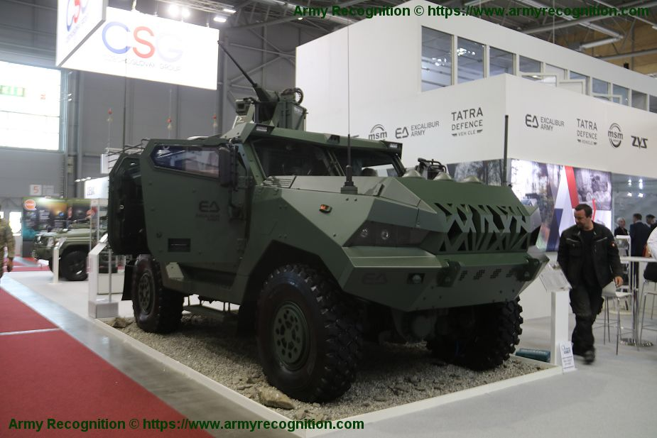 Patriot II 4x4 armored vehicle Excalibur Army IDET 2019 defense exhibition Brno Czech Republic 925 001