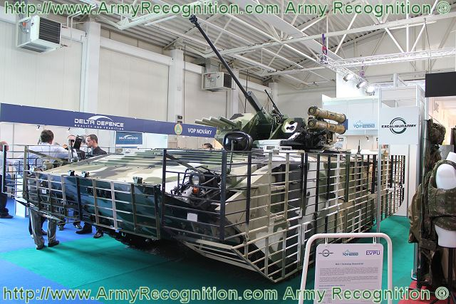 At the Defence Exhibition in Bratislava, IDEB 2012, The Czech Company Excalibur Army in cooperation with VOP Trencin and EVPU is presenting a technology demonstrator based on the chassis of Russian-made BMP-1 armoured infantry fighting vehicle, the MGC-1.