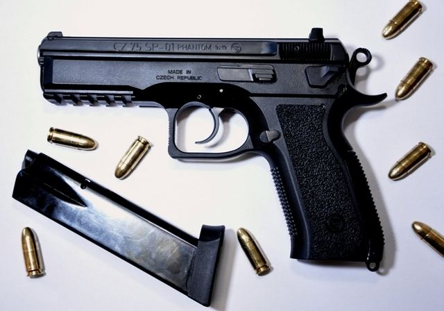 The CZ 75 SP-01 PHANTOM is a variant of the CZ 75 SP-01 TACTICAL automatic pistol. Thanks to its low weight achieved by the use of heavy-duty plastic is this handgun suitable for armed forces and similar service.