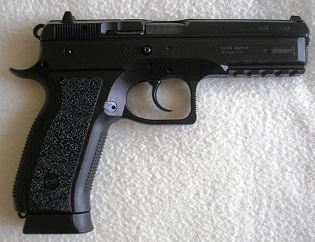 CZ 75 SP-01 Phantom 9mm Luger automatic pistol 9x19 caliber data sheet specifications description information identification pictures photos images Czech Republic army defence industry military technology