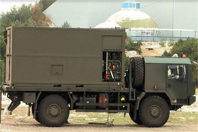 PSRA Pilica short-range air defense system Command Post Jelcz truck 442-32 Poland Polish army defense industry 640 001