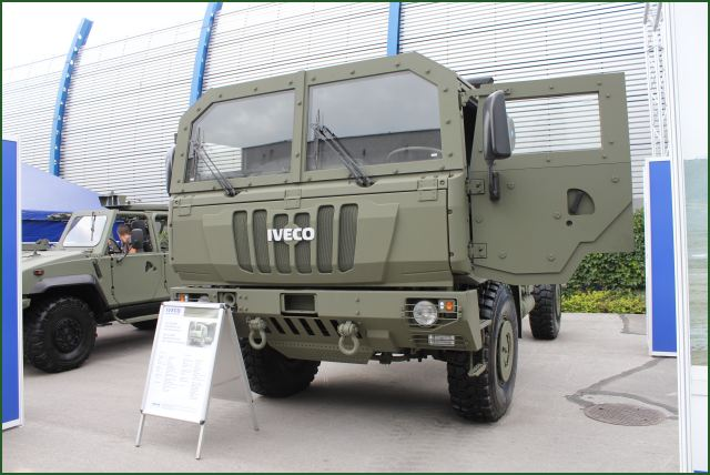 Iveco Defence Vehicles is one of the premier manufacturers of military trucks in Europe, offering an outstanding product range designed to meet the full spectrum of operational roles demanded by the military user. At MSPO 2011, the Italian Company presents its range of M170 high mobility trucks with armoured cab.
