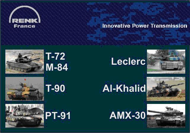 RENK, together with the French subsidiary SESM, is a world leader in the development and manufacture of automatic high-performance transmissions for all types of military tracked vehicles up to 70 tonnes.