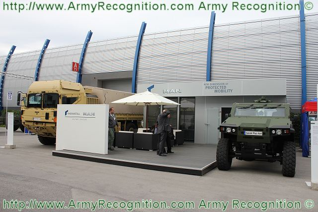 At MSPO 2011, the German Company MAN Rheinmetall Military Vehicles presents the light armoured vehicle, the Gavial Plus. One year after introducing the Gavial, Rheinmetall Defence launched its new Gavial Plus, an innovative light armoured multipurpose vehicle.