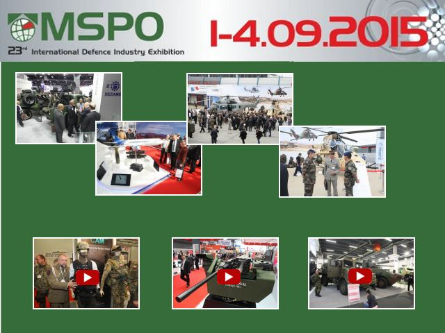 MSPO 2015 pictures Web Tv Television photos images video International Defence Industry Exhibition 1 to 4  September 2015 Kielce Poland Polish army military defence security equipment