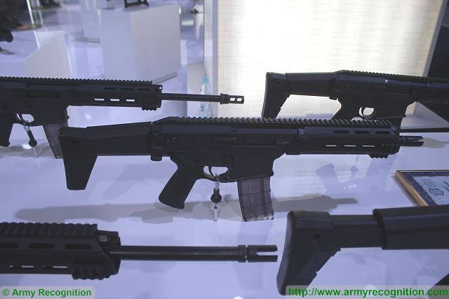 MSMS 5-56mm folding stock assault rifle Radom PGZ MSPO 2015 defense exhibition Kielce Poland 640 001