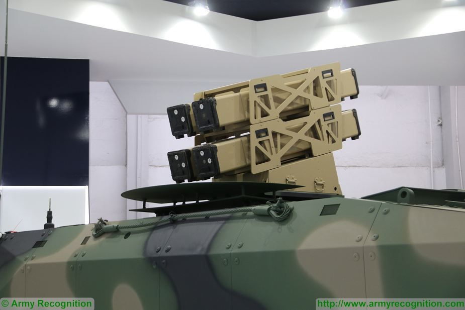 6x6 tank destroyer Rosomak Spike NLOS missile MSPO 2017 defense exhibition Kielce Poland 925 002