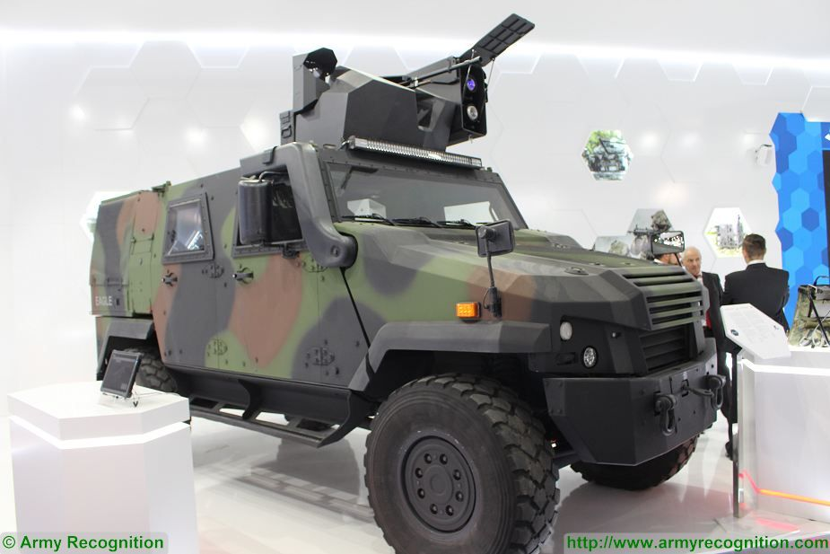 Eagle V 4x4 tank destroyer Samson Mini Spike missile MSPO 2017 defense exhibition Kielce Poland 925 001