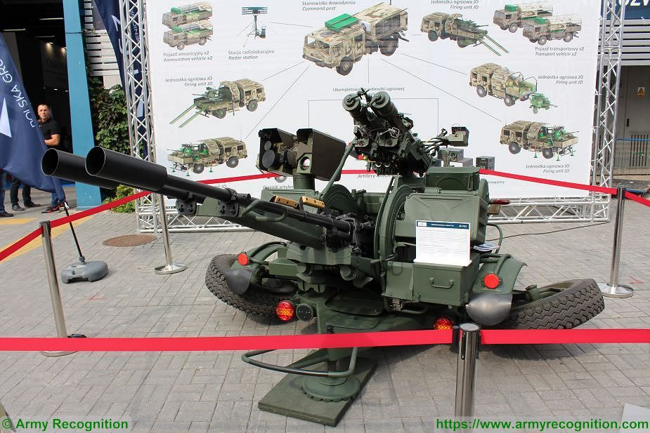 PSR A Pilica 23mm air defense weapon with GOS 1 observation and tracking system MSPO 2018 Poland 925 001