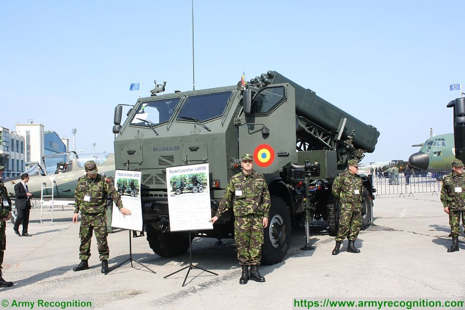 LAROM 160mm MLRS Multipl Launch Rocket System on 6x6 truck chassis Romania army 925 001
