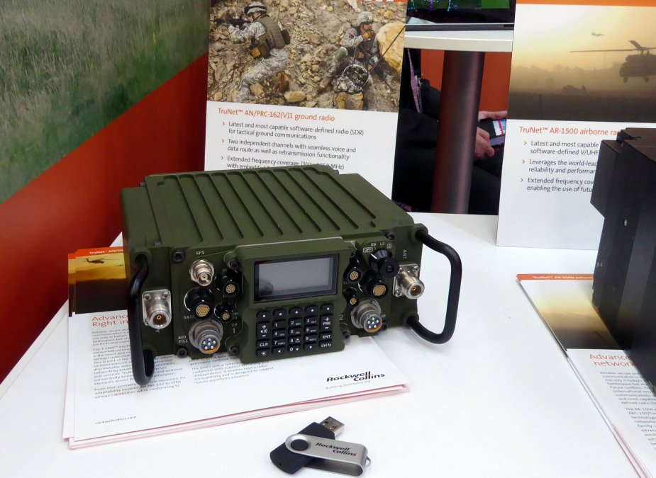 Rockwell Collins TruNet AN PRC 162V1 networked communications ground radio