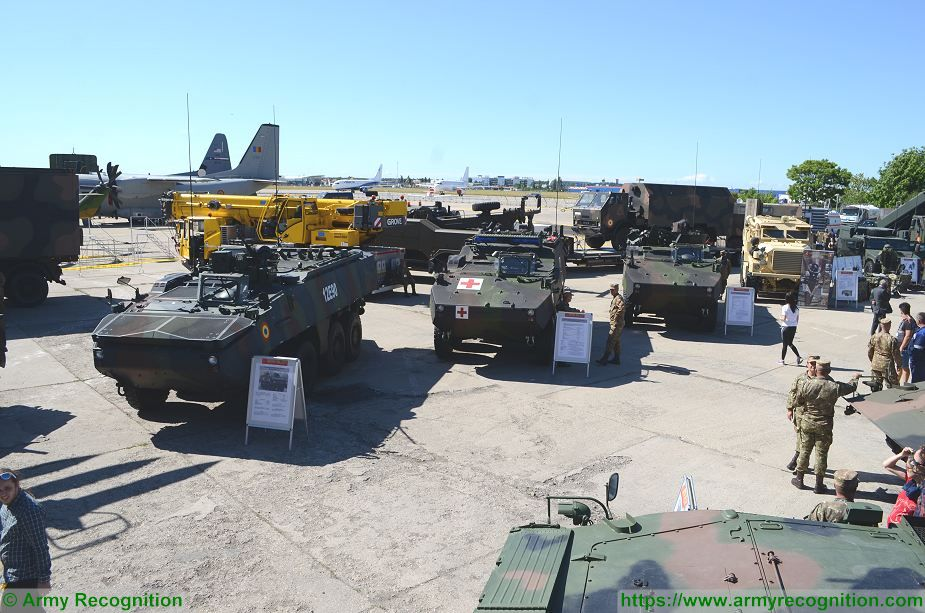 Romanian army armored and combat vehicles at BSDA 2018 defense exhibition Piranha IIIC 925 001