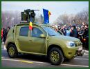 During a military parade for the National Day in Romania, December 1, 2013, Romanian Ministry of Defense showcased a special Dacia Duster vehicle modified for military use. The Dacia Duster Army was the highlight of the traditional military parade that takes place each year under Bucharest's Arch of Triumph monument.