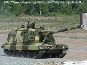 2S19 Msta-S self-propelled howitzer gun technical data sheet specifications information description pictures photos images identification intelligence Russia Russian army tracked armoured vehicle artillery