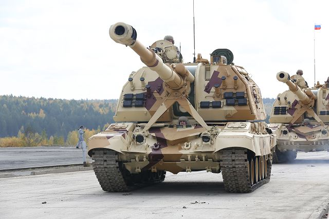 2S19M2 MSTA-S 152mm tracked self propelled howitzer Russia Russian army defence industry military technology 001