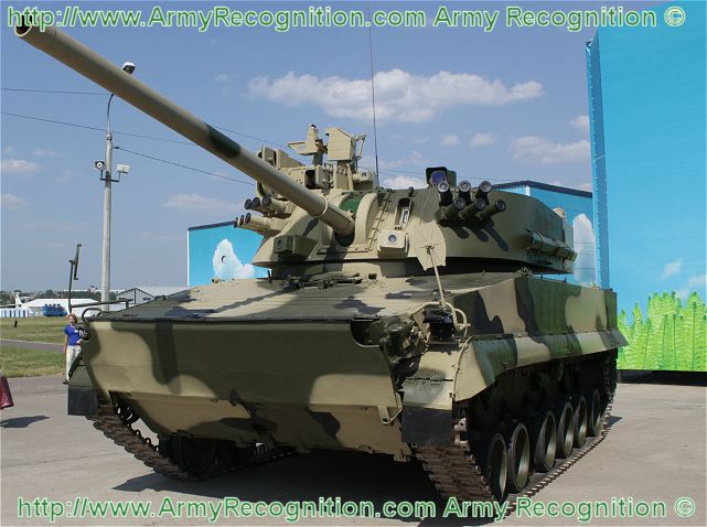 2S31 Vena self-propelled mortar carrier data sheet specifications information intelligence pictures photos images description identification Russian army Russia tracked military armoured vehicle
