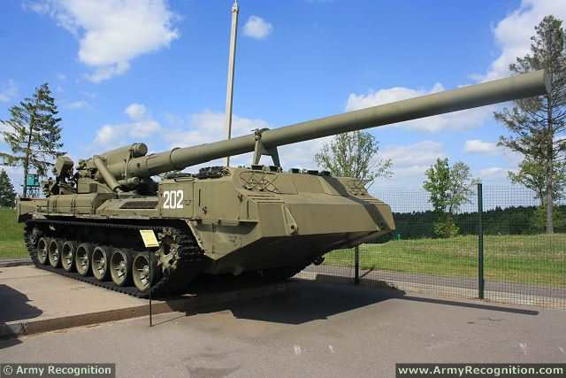 2S-7 Pion Piony M-1975 SO-203 203mm self-propelled gun Russia Russian-army military equipment 640 001