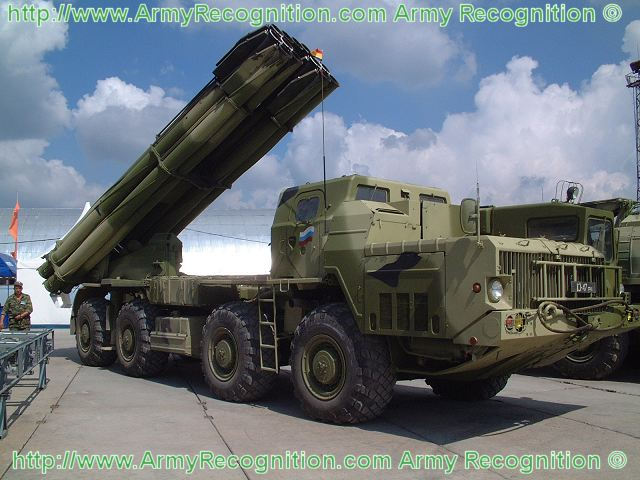 The latest variant of the multiple rocket launchert system BM-30 is the Smerch-M with the launcher vehicle 9A52-2. The Smerch-M is equipped now with the Vivariy automated fire-control system, which can function automatically or under manual control.