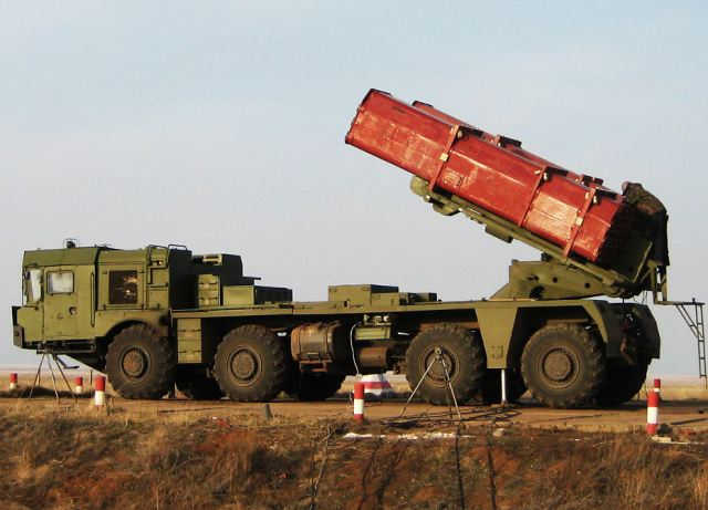 Uragan-1M multi-caliber MLRS Multiple Launch Rocket System 300mm 220mm Russia Russian army military equipment 640 001