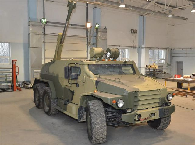 Russian TsNII Burevestnik scientific-research institute (a subsidiary of the Uralvagonzavod corporation) has developed the Volk-3-based self-propelled gun (SPG) using 2B16 Nona-B mortar. Such vehicle might replace 2S9 Nona-S SPGs within Russian Airborne Forces (VDV).