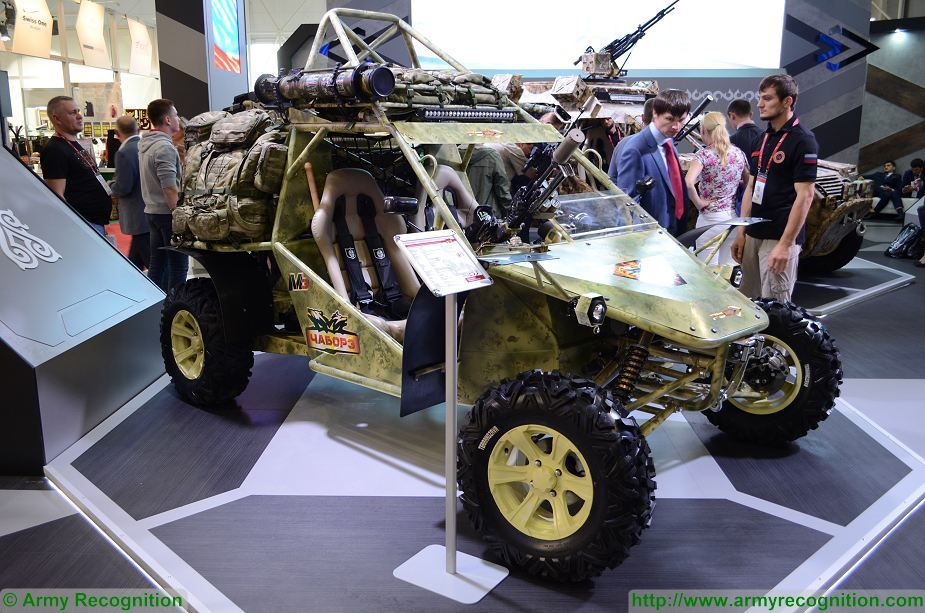 he Chechen Republic also presents a three seat version of its local-made buggy under the name of Charboz-M3. Developed by Russian engineers to be used as an assault, reconnaissance, medevac, or command vehicle, the light, multipurpose all-terrain vehicle can transport a crew of three and up to 250 kg of payload. The vehicle has been designed to be used in desert, mountain, and steppe terrains.