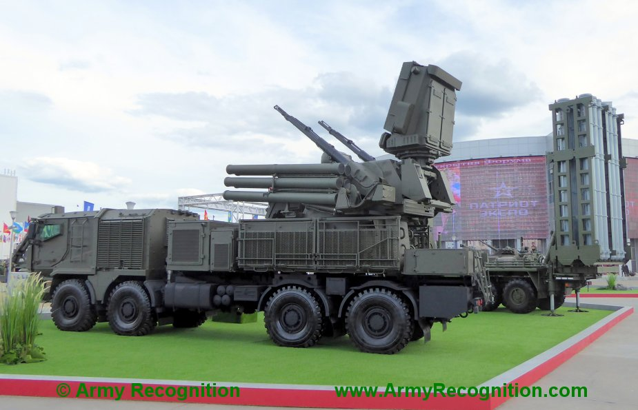 Army 2019 KBP group publicly unveils Pantsir SM cannon missile air defense system