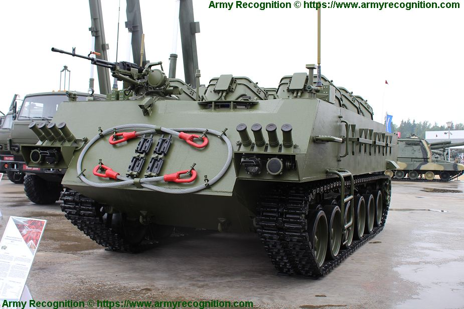 New UMZ G multipurpose tracked minelayer vehicle based on tank chassis Army 2019 Russia 925 001