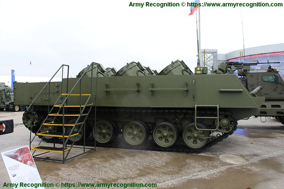 New UMZ G multipurpose tracked minelayer vehicle based on tank chassis Army 2019 Russia 925 002