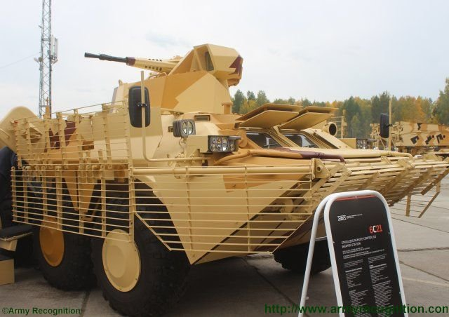 RAE 2015 UralVagonZavod unveils a new variant of BTR 80 fitted with remote controlled turret 640 001