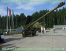 Production of 152 mm howitzer 2A65 MSTA-B began in 1987. This howitzer is intented for destruction of tactical nuclear attack weapons, artillery and mortar batteries, tanks and other armoured equipment, for annihilation of field fortifications and other defence structures. The MSTA-B gun is provided with semi-automatic breech mecanism. The sighting device ca be use for direct and indirect fire. The maximum range fire is 28,5 km with HEP munitions and the rate of fire is 7 rounds per minute. The crew is 8 soldiers.