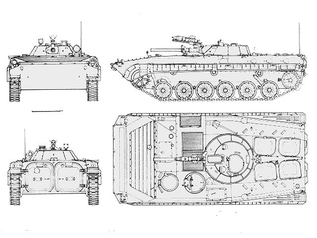BMP-1 armoured infantry fighting vehicle technical data sheet specifications information description pictures photos images intelligence identification intelligence Russia Russian army defence industry military technology tracked combat