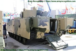 BMP 3M armoured infantry fighting combat vehicle Russian Army Russia defense industry military equipment left side view 002