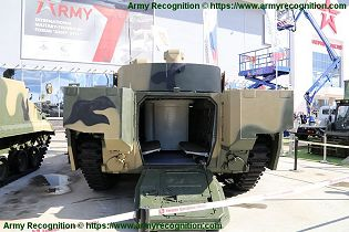 BMP 3M armoured infantry fighting combat vehicle Russian Army Russia defense industry military equipment rear view 002