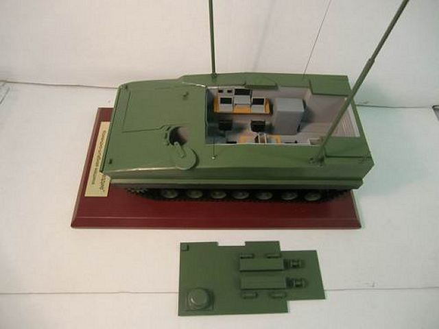 Scale model of Russian project of Kurganets-25 light armoured vehicle