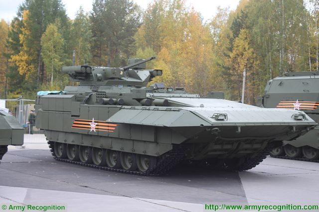 T-15 BMP Armata AIFV tracked armoured infantry fighting vehicle Russia Russian army military equipment 640 003