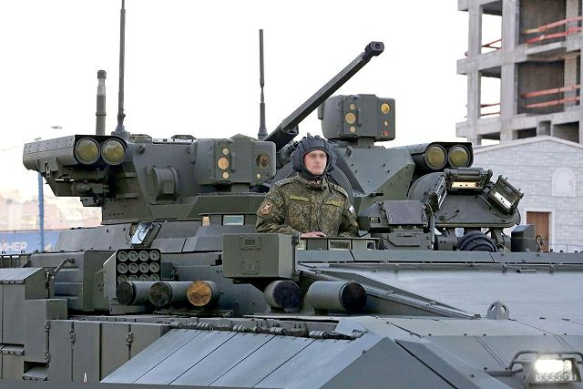 T-15 BMP Armata AIFV tracked armoured infantry fighting vehicle Russia Russian army military equipment details 002