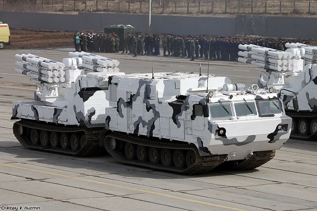 Pantsir-SA Arctic short-range missile-gun air defense system technical data sheet specifications pictures video information description intelligence identification photos images Russia Russian Military army defence industry military technology equipment