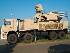 Pantsir Pantsyr S1 SA-22 Greyhound air defense missile gun system technical data sheet specifications information intelligence pictures photos images description identification Russian army Russia ground-to-air anti-aircraft