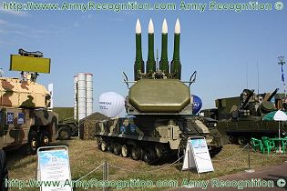 SA 17 Buk M2 9K37M2 surface to air defense missile system Russia Russian army defense industry front side view 001