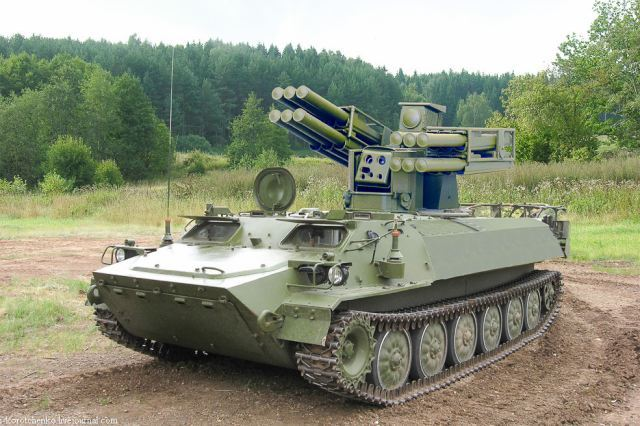 Sosna air defense missile system on tracked armoured Russia Russian defense industry 640 002