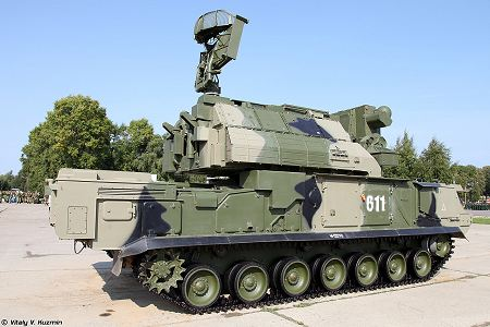 TOR M2 SA 15D short range surface to air defense misssile system Russia Russian army right side view 001