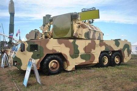 TOR M2K short range surface to air defense missile system defense Russia Russia army left side view 001