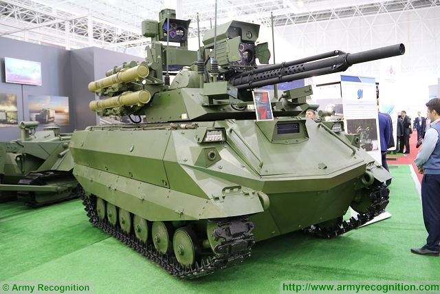 Uran-9 UGCV UGV tracked Unmanned Ground Combat Vehicle Russia Russian defense industry army military equipment 640 001