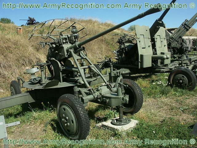 M1939 61-k 37mm anti-aircraft gun technical data sheet specifications information description pictures photos images intelligence identification intelligence Russia Russian army defence industry military technology