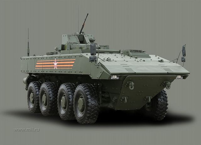Boomerang BTR wheeled 8x8 armoured vehicle personnel carrier Russia Russian army line drawing blueprint 001