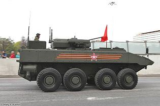 Boomerang BTR wheeled 8x8 armoured vehicle personnel carrier Russia Russian defence industry right side view 003