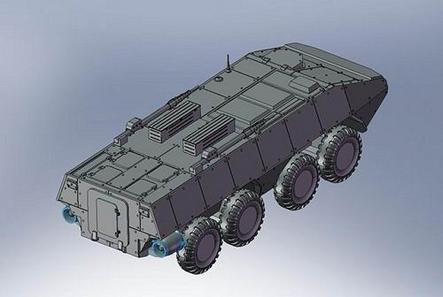"The first prototypes of the new Russian-made wheeled armoured vehicle could be available for 2013, -said Director General of ""Military-Industrial Company"", Dmitry Galkin. According to Mister Galkin, the ""Boomerang"" will be marketed in several variants as light tank, infantry fighting vehicle and personnel carrier."