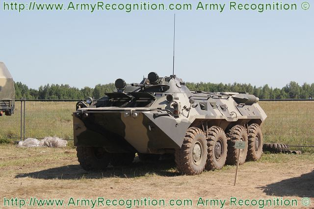 BTR-80 8x8 armoured vehicle personnel carrier technical data sheet specifications information description pictures photos images video intelligence identification Russia Russian army defence industry military technology