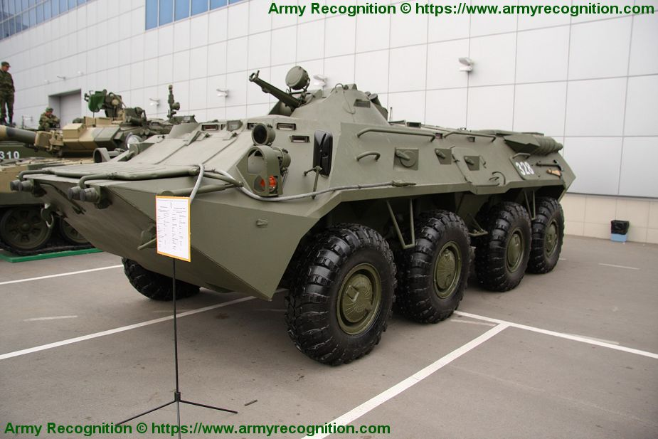BTR 80 APC 8x8 wheled armored vehicle personnel carrier Russia Russian army defense industry 925 001